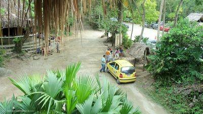 Zona de parqueaderos - Parque Tayrona