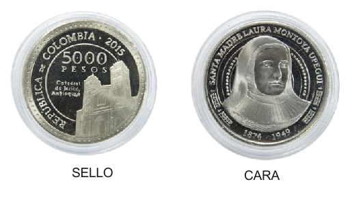 Moneda Hermana Laura Montoya